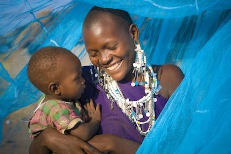 Masai mother and child near Kilimanjaro, Tanzania