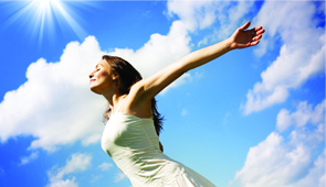 woman-blue-sky